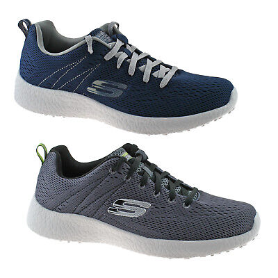 050a657bd9 MENS SKECHERS BURST SECOND WIND TRAINERS NAVY   CHARCOAL 52108 SIZE 6.5 - 11