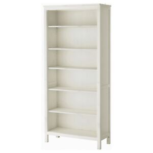 Ikea hemnes solid wood bookcase in white stain