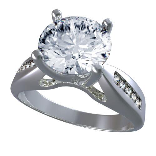 GIA Certified Round Cut Diamond Engagement Ring 1.40 Carat 18k White Gold
