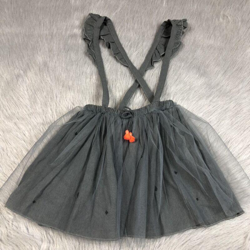 Zara Baby Girls 3/4 Years Gray Tulle Suspender Skirt