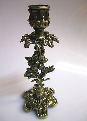2 x Candle Holder 14 cm Decor Antique Gold for Romantic Ambient New