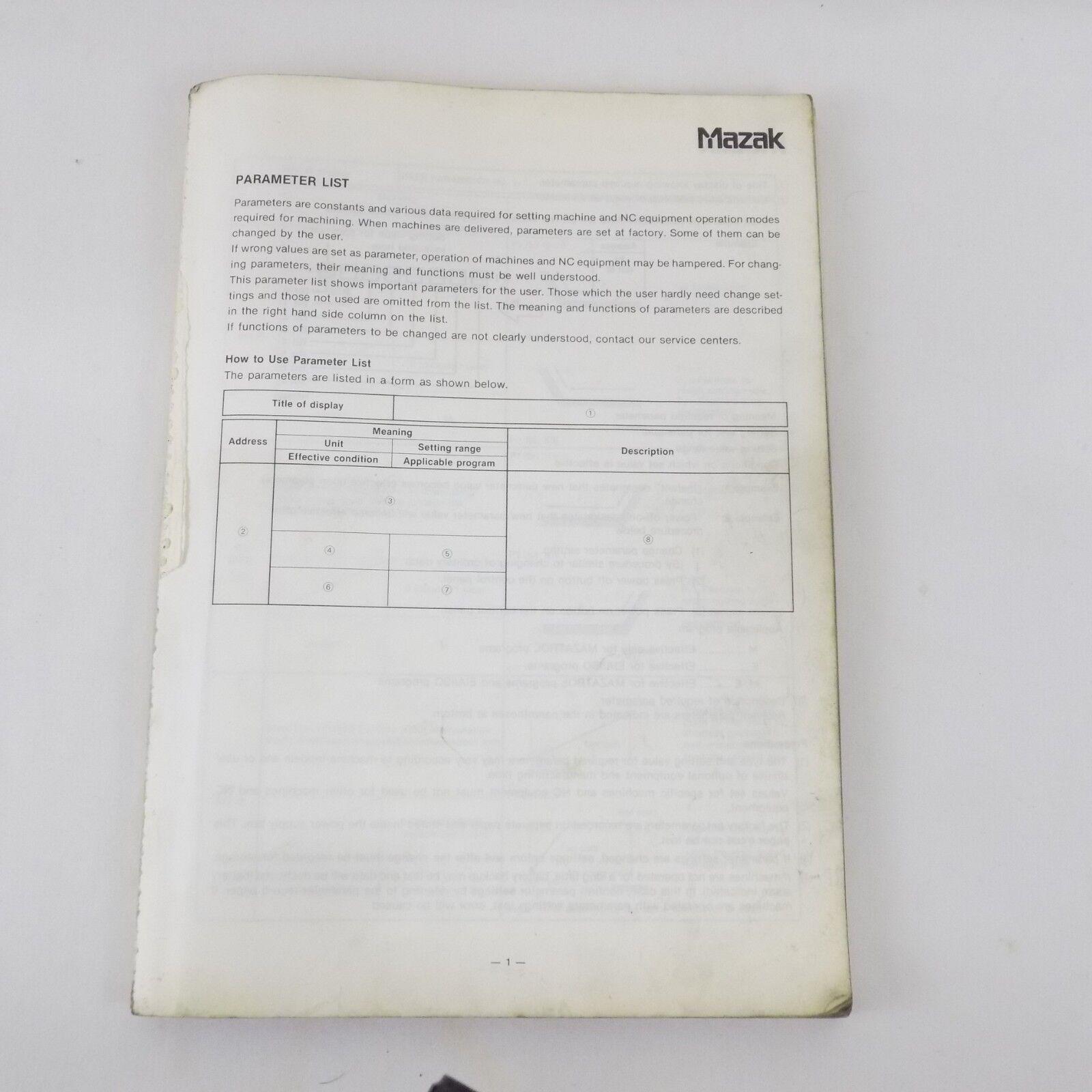 Книга, чертеж или руководство о металлообработке и металлорежущих станках  MAZAK
