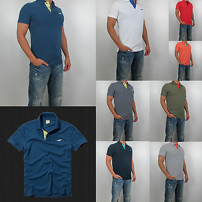 e0084c12 New Hollister By Abercrombie Men Pearl Street Polo Shirt All Size, All  Color NWT
