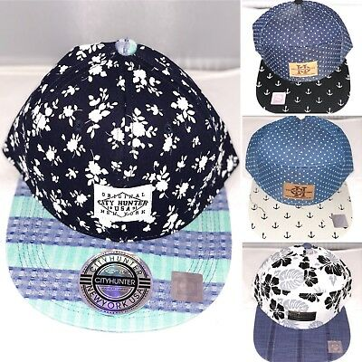 City Hunter snapback caps, 7 panel anchor hats, baseball hip hop designer street
