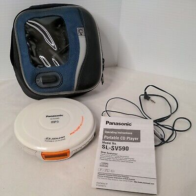 Panasonic SL-SV590 Portable CD MP3 Player with FM Tuner Radio & carrying case