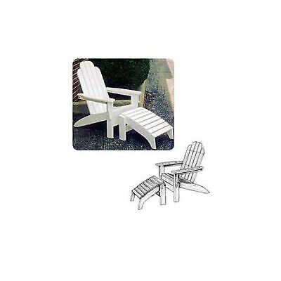 Woodworking Paper Plan to Build Adirondack Folding Chair and