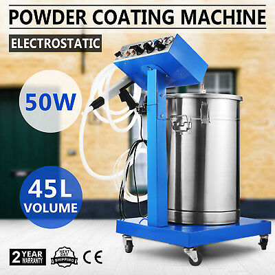 Powder Coating System With Spraying Gun Electrostatic Machine 110v Wx-958
