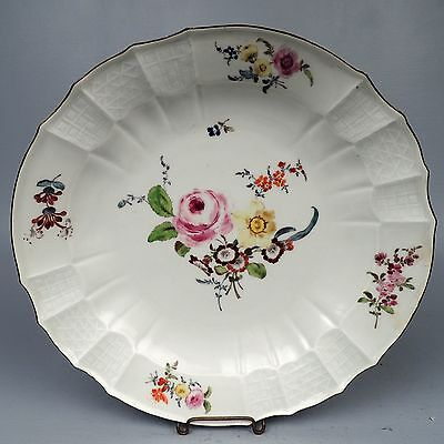 "Antique 18C/19C Meissen 12"" Porcelain Charger or Large Plate - Streublumen PC"