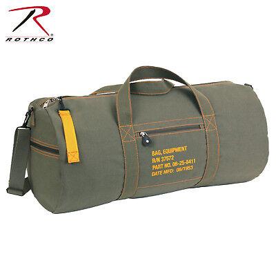 Rothco 24 Inch Canvas Equipment Bag - Olive Drab Shoulder Duffle Gear Bag 24' Gear Duffel Bag