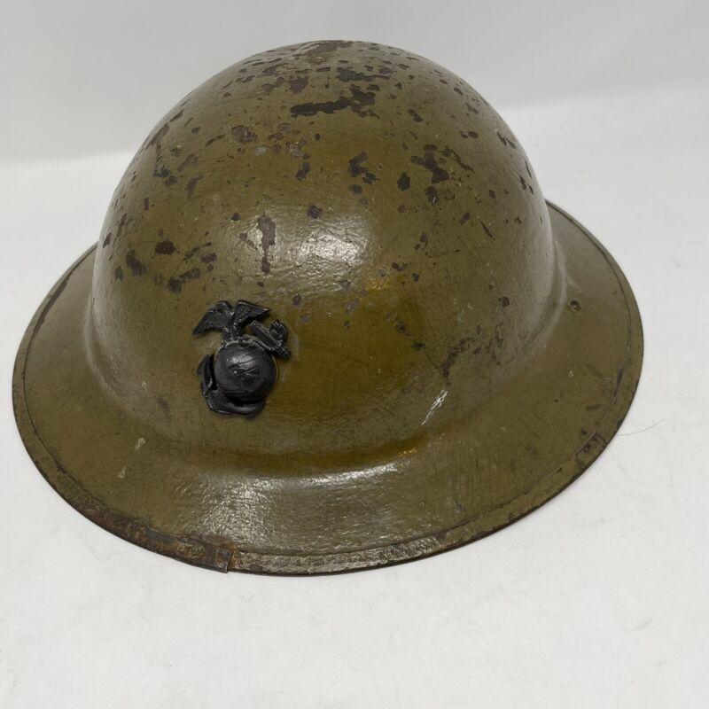 US Marines WWI ZA210 Steel Metal Helmet