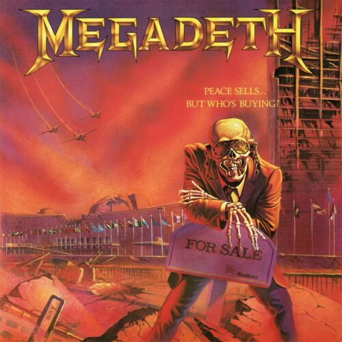 MEGADETH Peace Sells But Whos Buying BANNER HUGE 4X4 Ft Fabric Poster Flag art