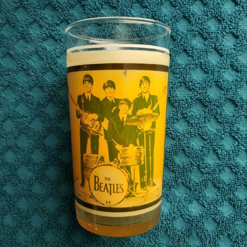 Beatles Memorabilia  Drinking Glass 1964. Extremely  Rare !