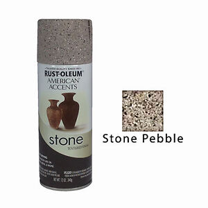 details about rust oleum american accents stone textured spray paint. Black Bedroom Furniture Sets. Home Design Ideas