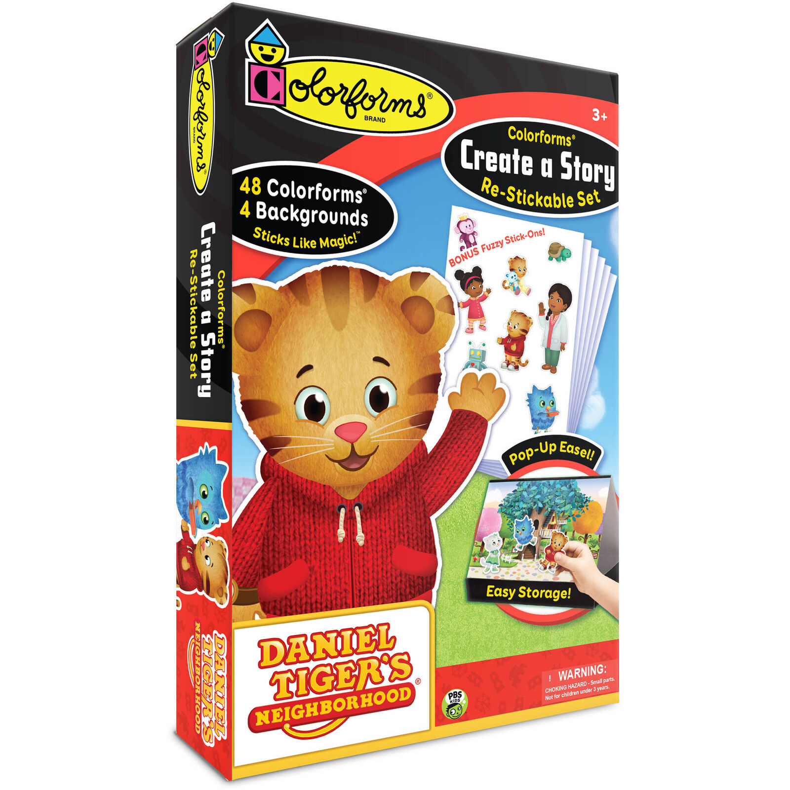 Daniel Tiger Colorforms Create A Story Re-Stickable Set NEW