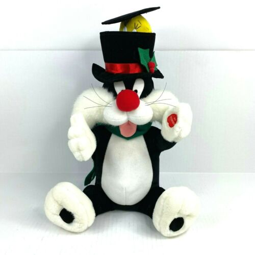 Christmas Sylvester The Cat Animated Musical Plush Figure Tweety Bird Pop Up Hat