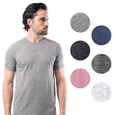 Brooklyn Athletics Men's Marl T-Shirt Modern Slim Fit Short Sleeve Tee (Brooklyn Fitted T-shirt)