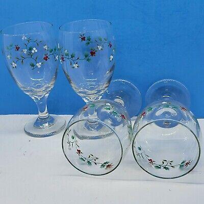 Pfaltzgraff Winterberry 16 Oz. Ice Tea Goblets Bundle Of 4