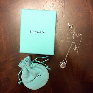 Tiffany and Co. lock pendant and chain