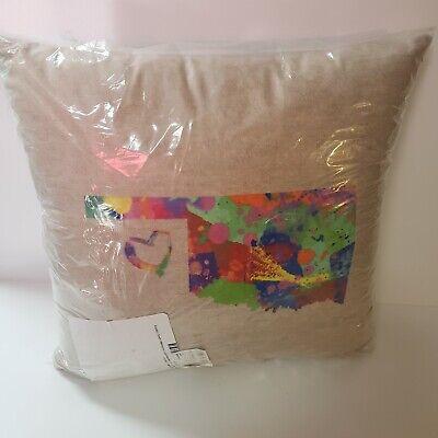 "Artverse Katelyn Smith Oklahoma 16""x16"" Pillow  Watercolor Gift Farmhouse Decor"