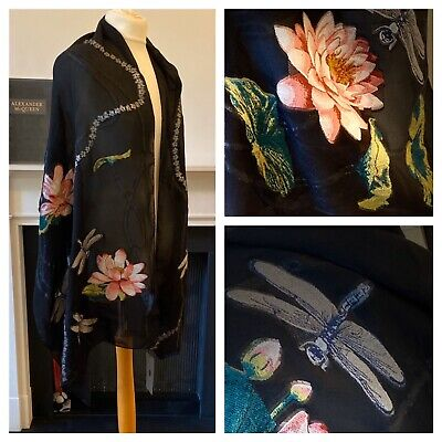 Exquisite Brand New Alexander McQueen Water Lilly Scarf RRP£289
