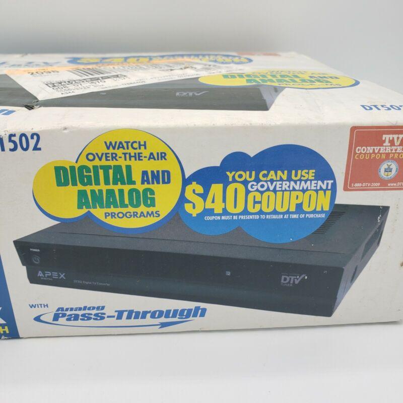 Apex Digital TV Converter Box w/ Analog Pass-Through DT250A New