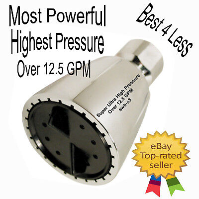 High Pressure Shower Head The Original Modification swb-s3 Pushing Over 12.5gpm