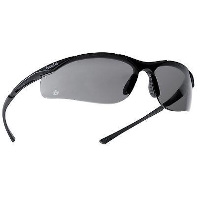 Bolle 40045 Contour Safety Glasses Smoke Anti-fog Lens Gunmetal Frame