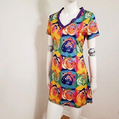 Pop Art Dress (Joule Warhol Inspired Rose Pop Art Dress Mini Women's Size S)