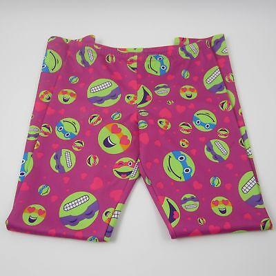 Nickelodeon Girls Graphic Ninja Turtle Leggings Pink Size XL 14/16 (Ninja Turtle Leggings)