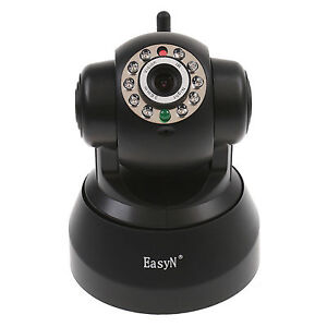 EasyN Wireless IP Camera Pan Tilt Free DDNS Smartphone Audio Night Vision WiFi