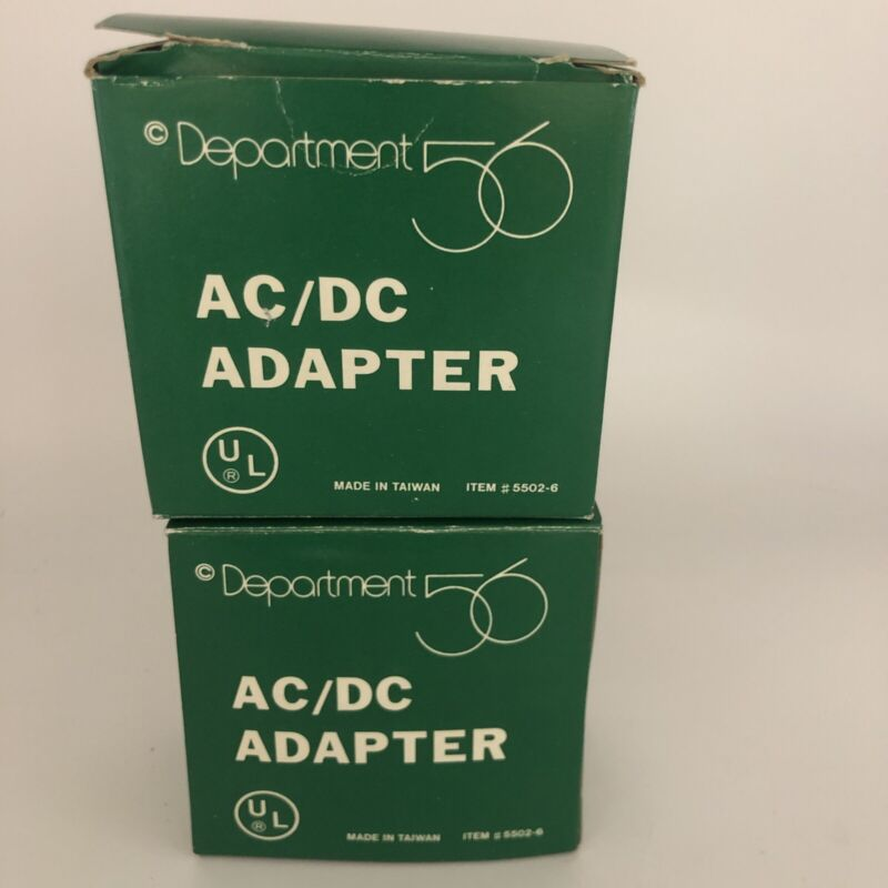 Dept 56 55026 AC/DC adapter village Lot Of Two!