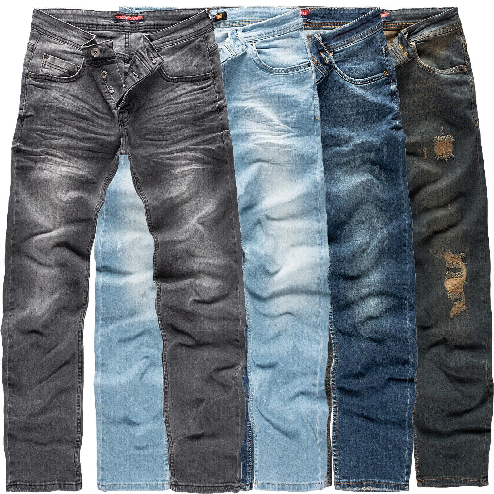 Rock Creek Designer Herren Jeans Denim Jeanshose Herrenhose Stretch Jeans M18