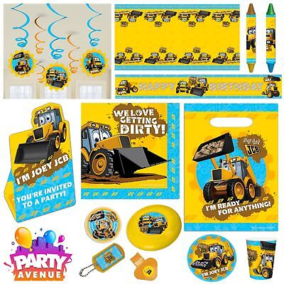 My 1st JCB Party Tableware Decorations Balloons Favours - My First Birthday Decorations