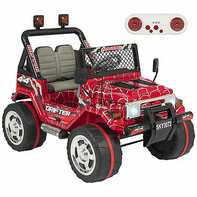 Best Choice Products 12V Ride On Car W/ Remote Control, 2 Speeds- Spiderman Red
