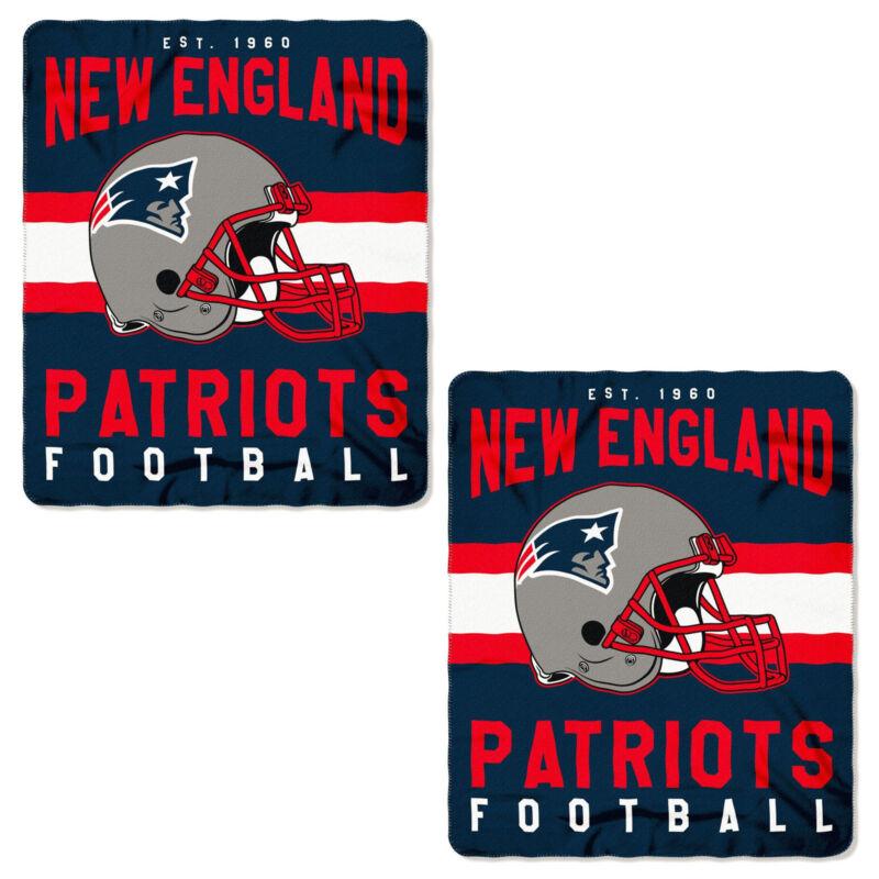 e569a03e02cf 2pc Set NFL New England Patriots Soft Fleece Throw Blanket 50