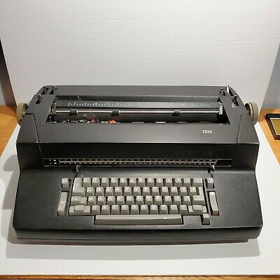 Ibm Selectric Correcting Electric Typewriter Vintage Black - For Parts Repair