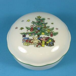 Nikko christmastime happy holidays 5 bon bon dish round box christmas