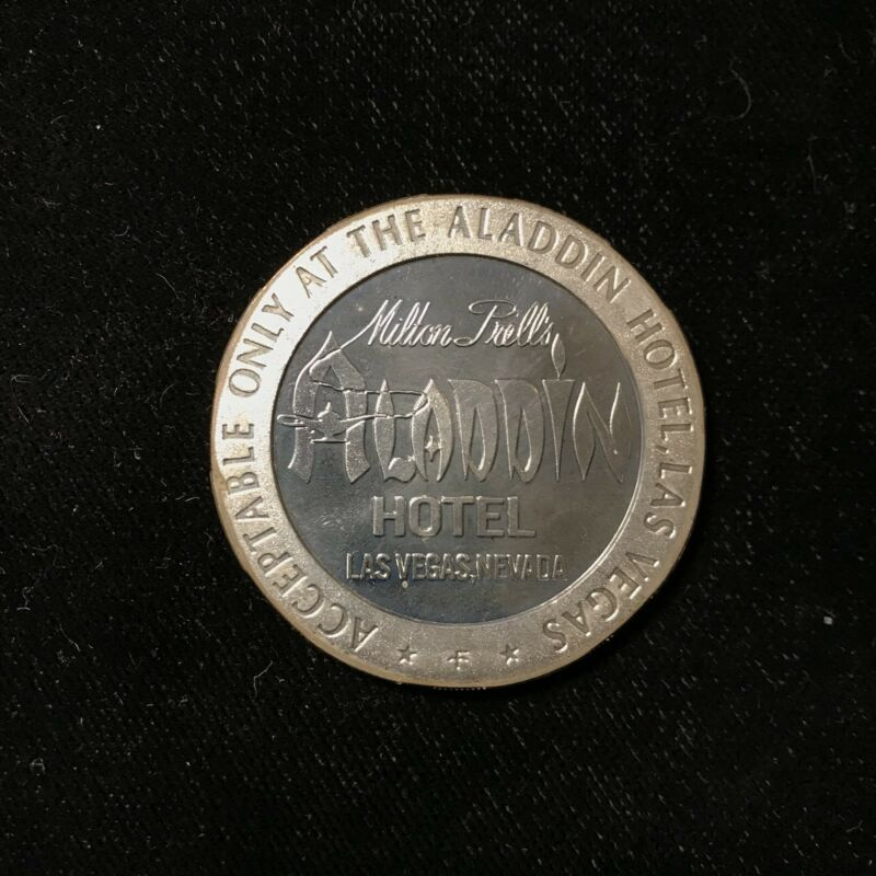 $5 1967 STERLING SILVER ALADDIN HOTEL, LAS VEGAS GAMING SLOT TOKEN Lot#A417