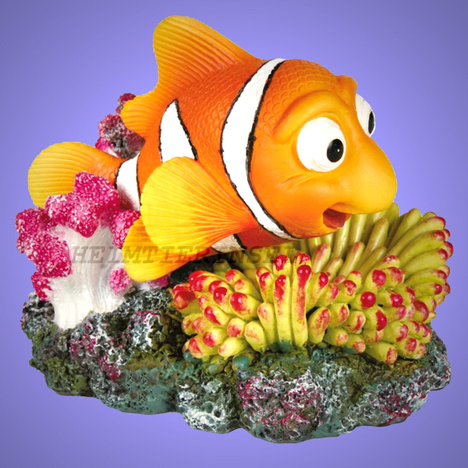 Aquarium Deko Nemo Clownfisch Beweglich Koralle Fische