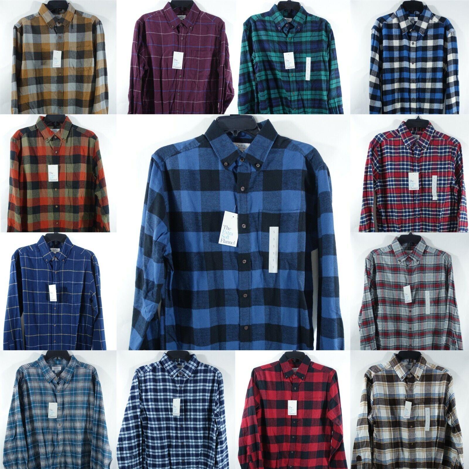 Men Flannel Button-Down Shirt Croft & Barrow Extra Soft