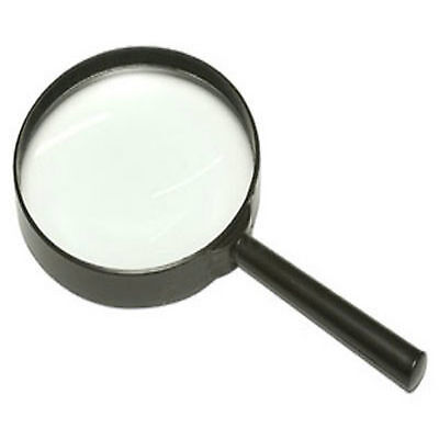 """LARGE MAGNIFYING GLASS MAGNIFYING GLASSES 4"""" 3X GLASS LENS 100mm OPTICAL NEW"""