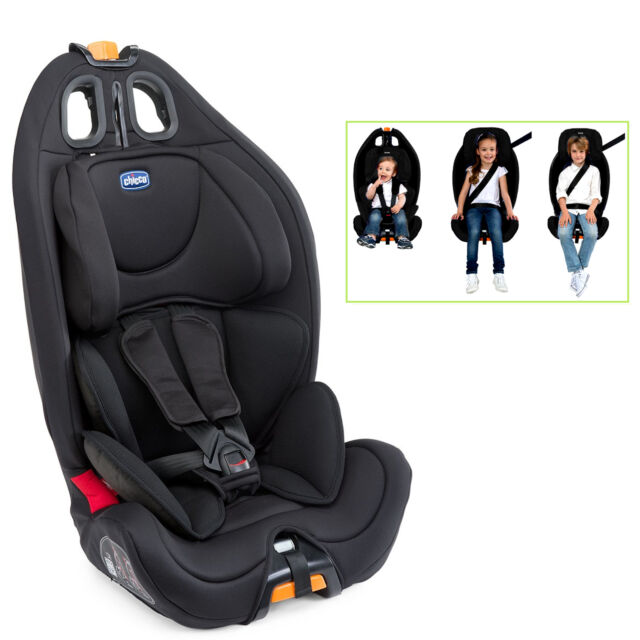 chicco gro up 123 baby car seat in black ebay. Black Bedroom Furniture Sets. Home Design Ideas