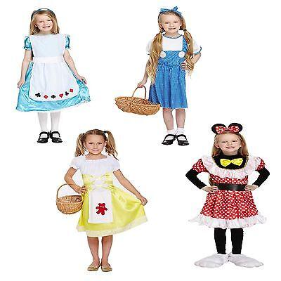 Mädchen Kostüm Kinder Alice Dorothy Goldlöckchen Maus Minnie Welttag des Buches ()