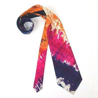 New 1930s Mens Fashion Ties THAI SILK Tie Dye Necktie VTG 1930s Hand Woven in Siam 100% Silk Tie VIBRANT  $39.99 AT vintagedancer.com