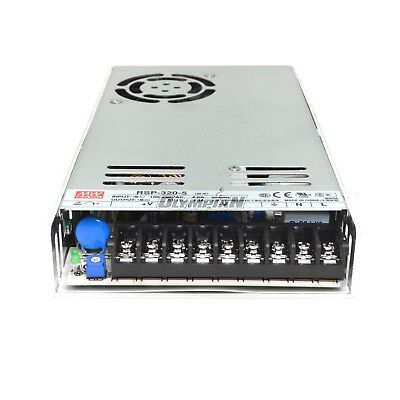 Used Mean Well Rsp-320-5 300w 5 Volt Power Supply With Pfc For Led Signs