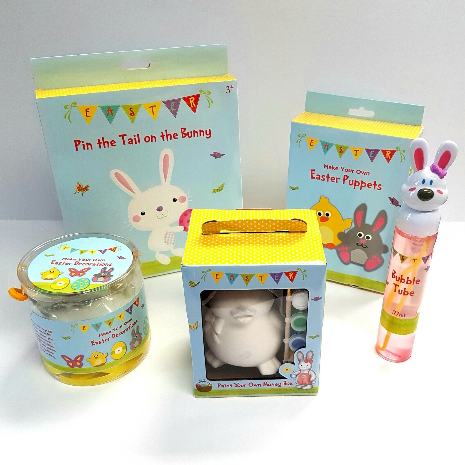 Details About Mega Easter Bundle Art Craft Paint Bubbles Pin The Tail Bunny Puppets
