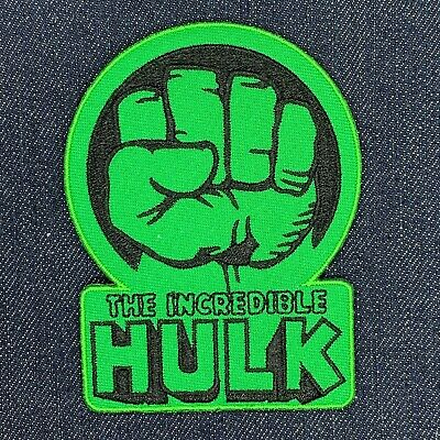 THE INCREDIBLE HULK FIST LOGO IRON ON EMBROIDERED PATCH FREE - The Hulk Fist