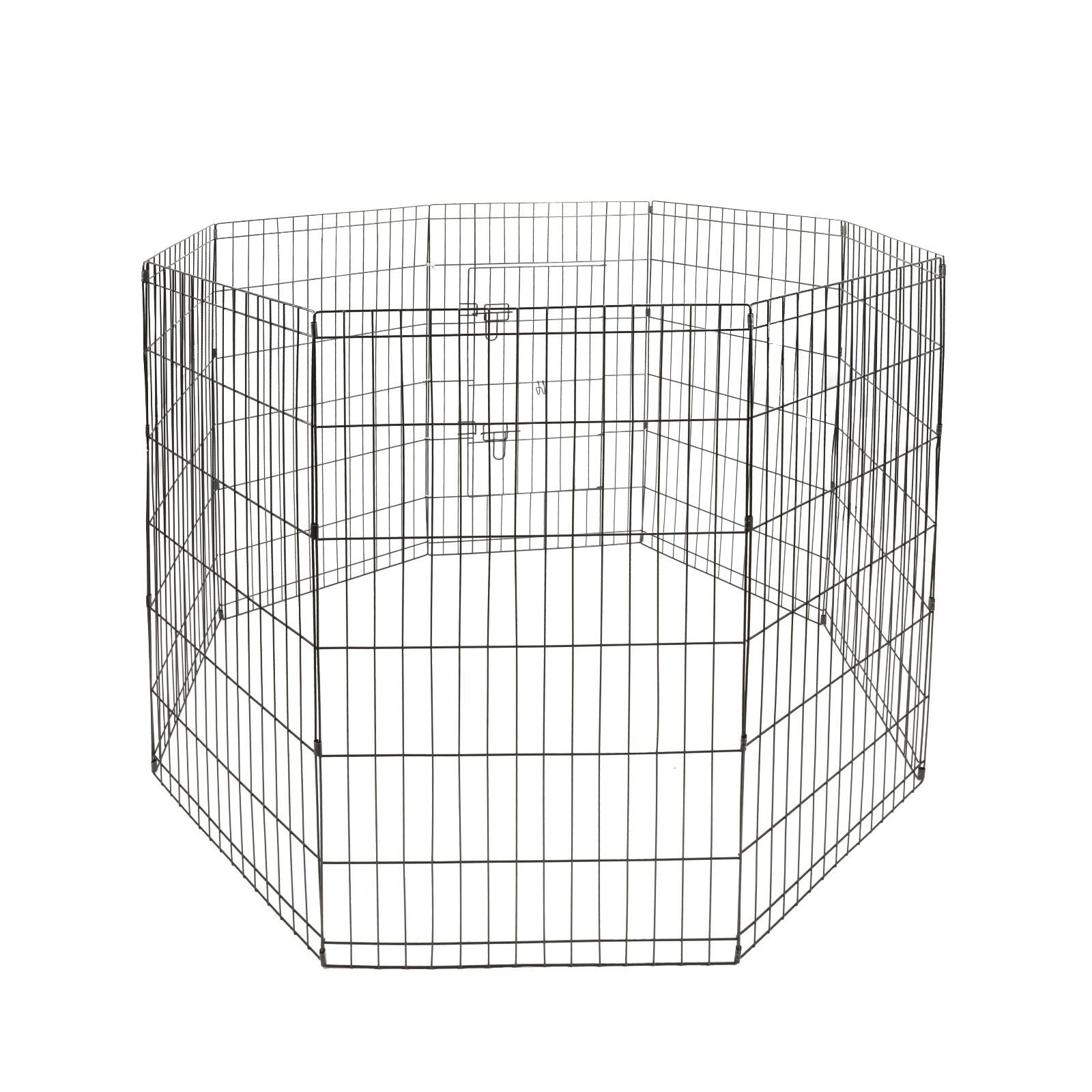 24″ Tall  Animal Pet Dog Puppy Cat Folding Play Pen Exercise Cages Crates Fence