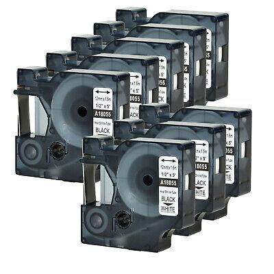 8pk For Dymo Rhino 42005200 Heat-shrink Tube 18055 Industry Label Tape 12x5