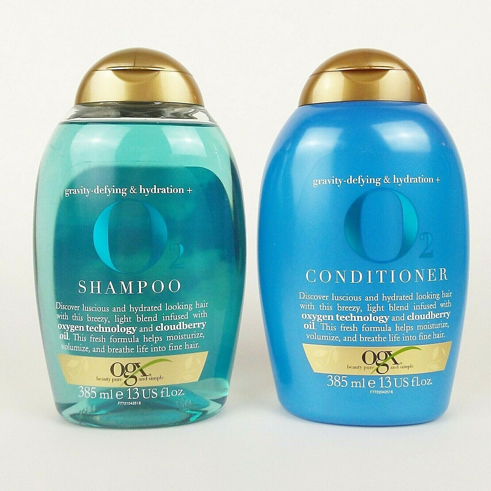 o2 gravity defying shampoo and conditioner set